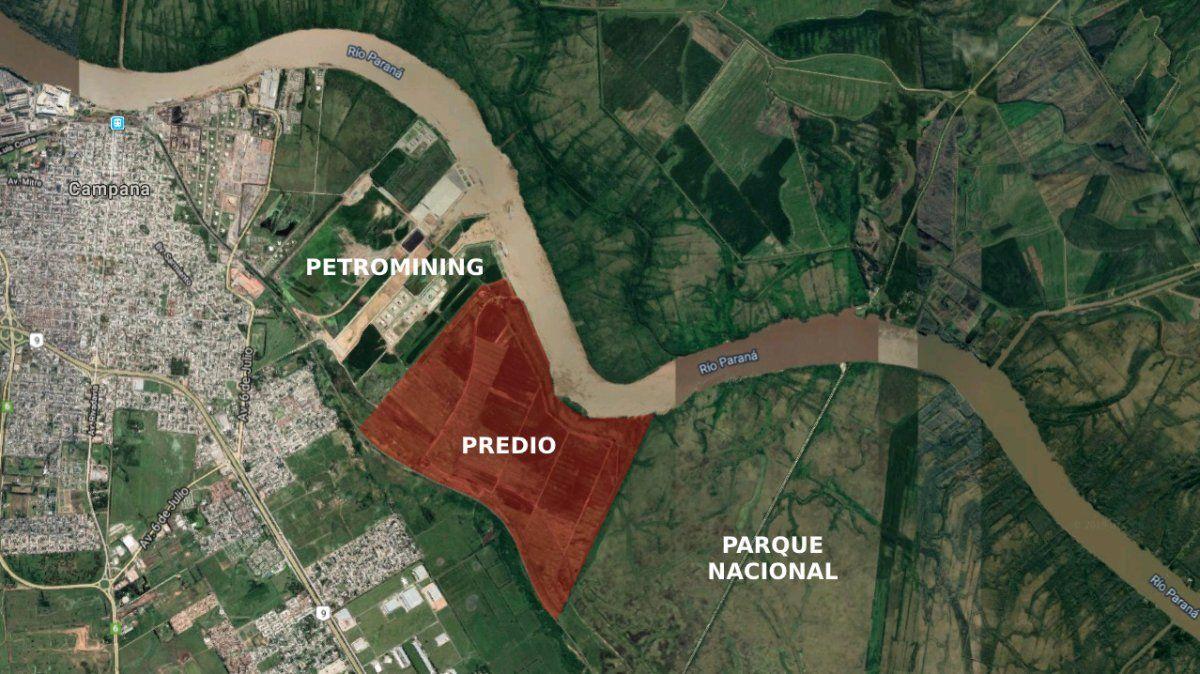 El predio de 411 hectáreas que pretende sumar la empresa Petromining s.a. linda con el Parque Nacional Ciervo de los Pantanos