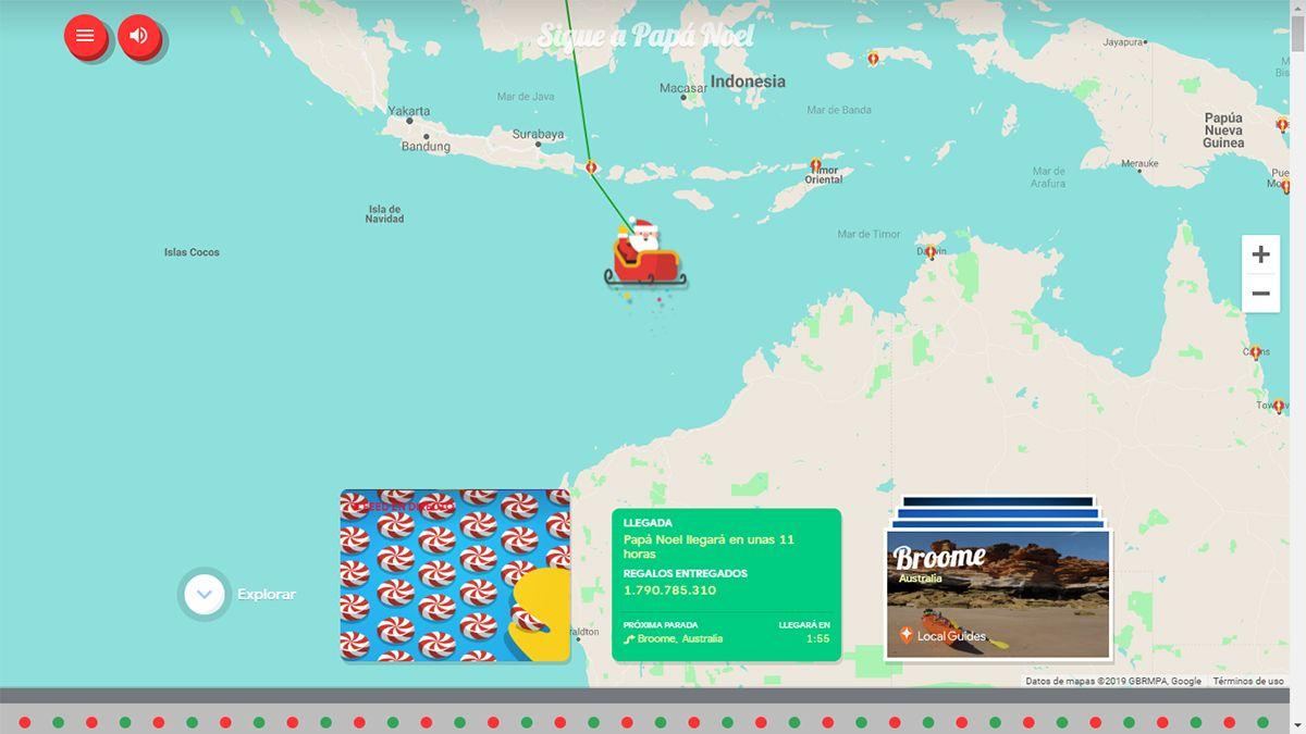 Un Mapa Interactivo Muestra El Recorrido De Papa Noel Navidad