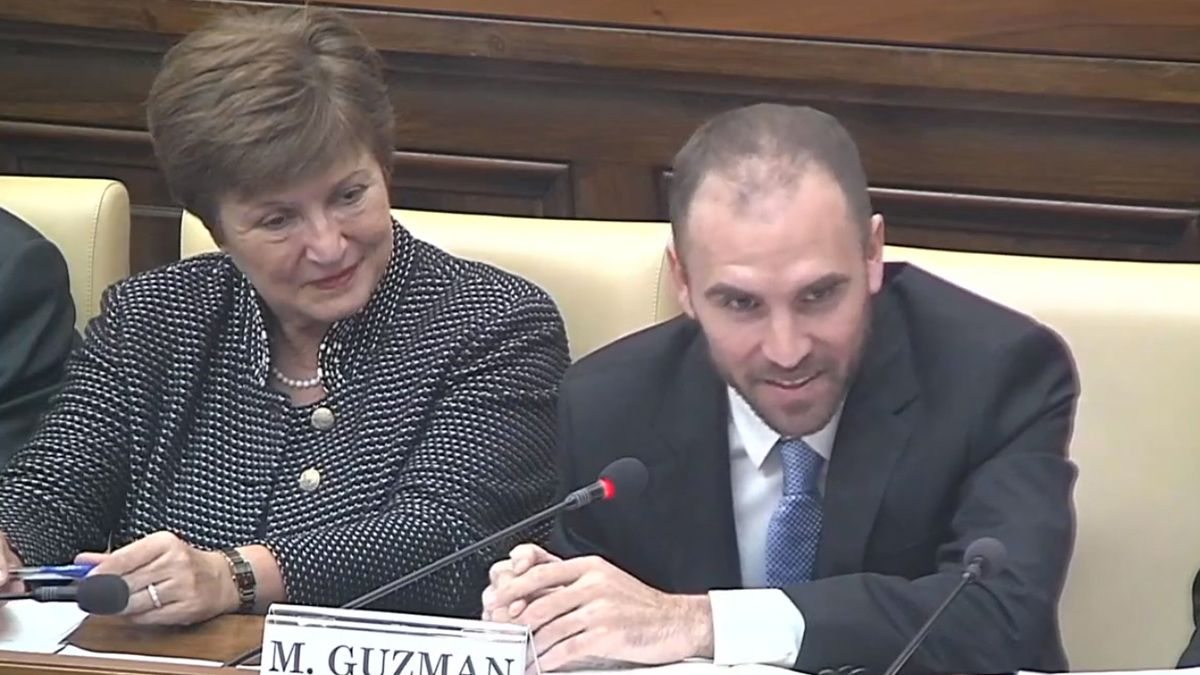 Martín Guzmán y Kristalina Georgieva