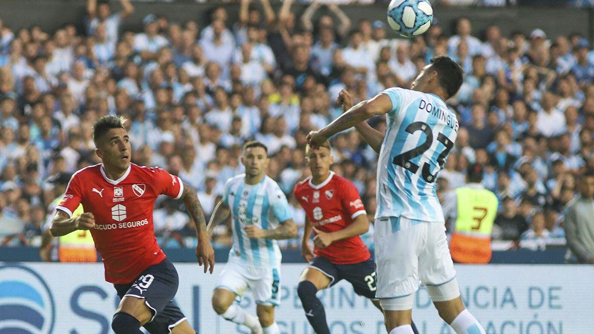 Racing derrotó 1 a 0 a Independiente en el Cilindro de Avellaneda.