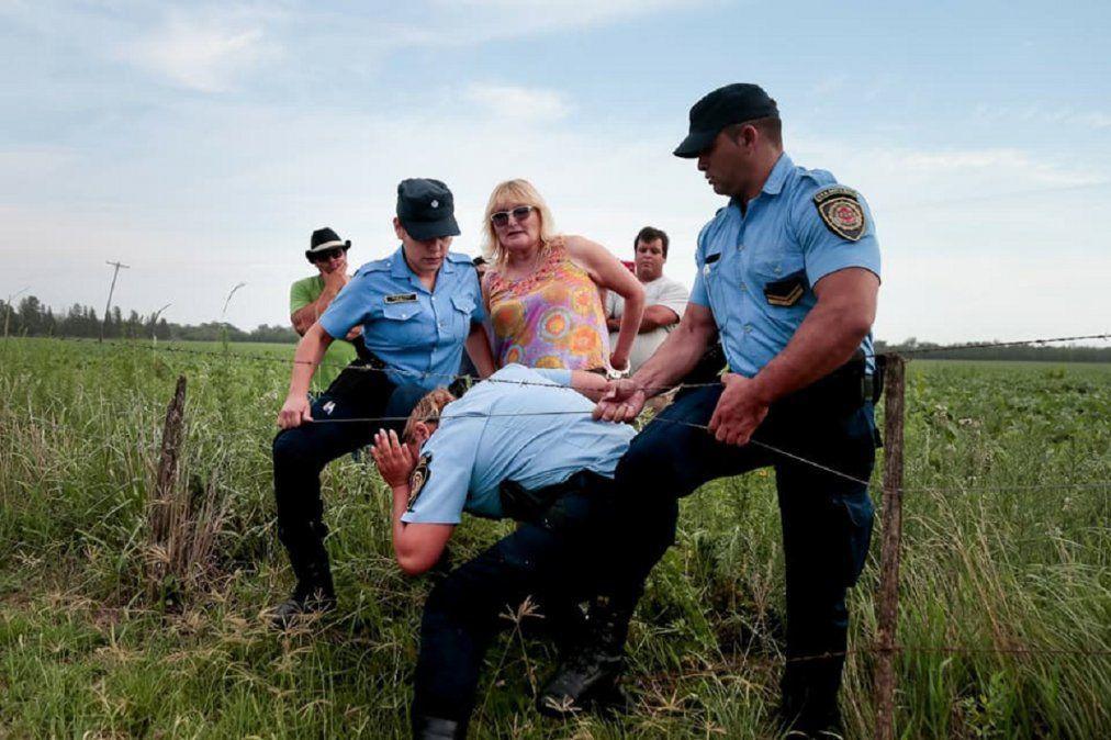 Sofia Gatica fue detenida cuando intentó frenar fumigaciones que se hacían en el campo de Dalmasso