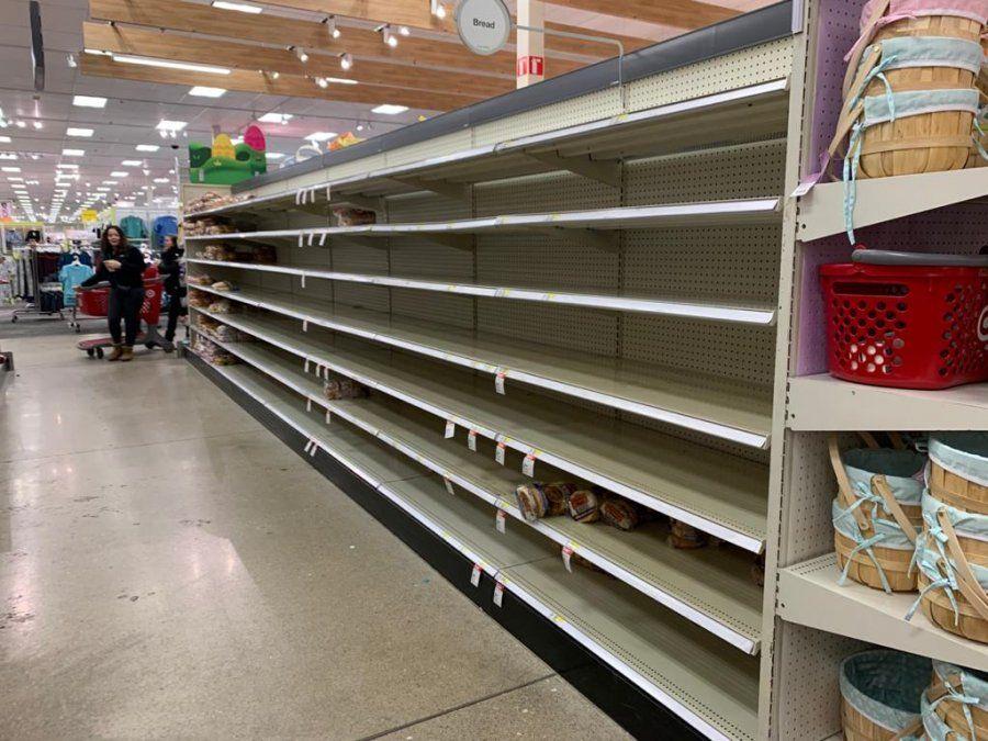 Así lucen algunas góndolas de los supermercados estadounidenses.