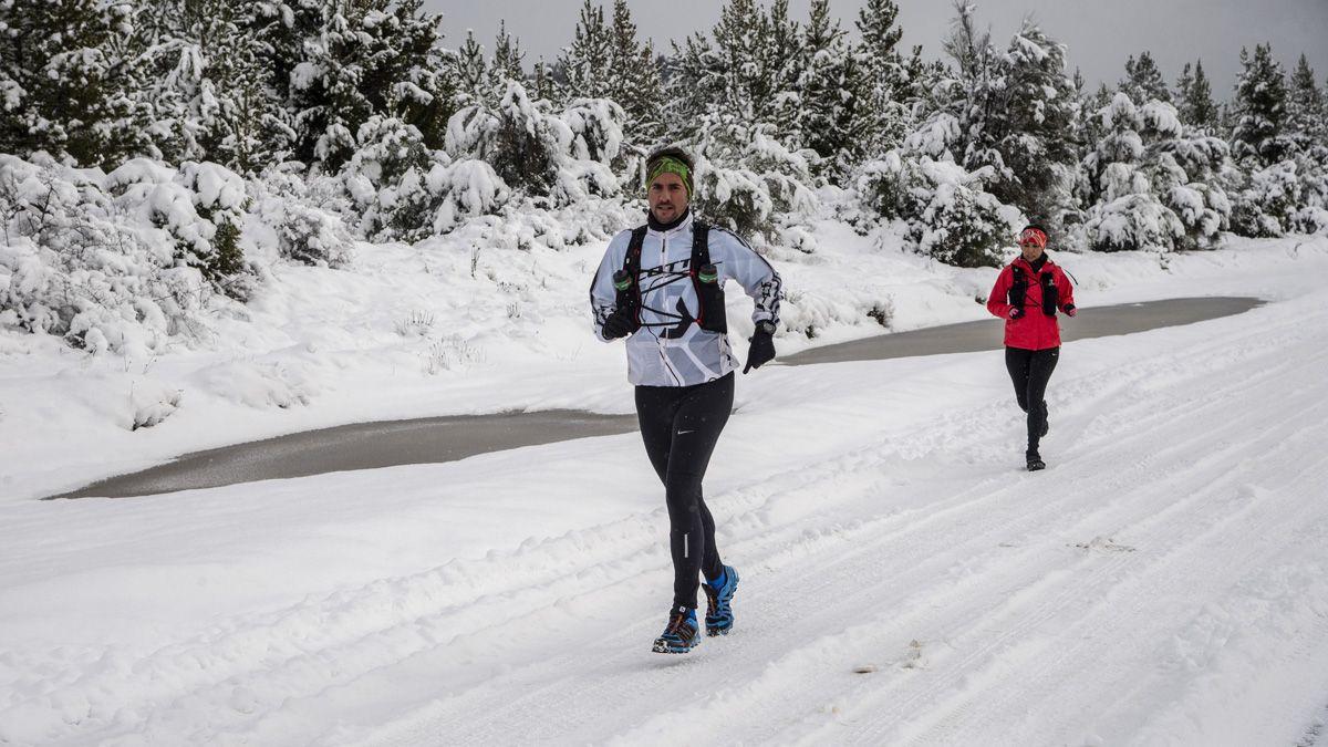 Los corredores volvieron a la actividad tras las intensas nevadas.