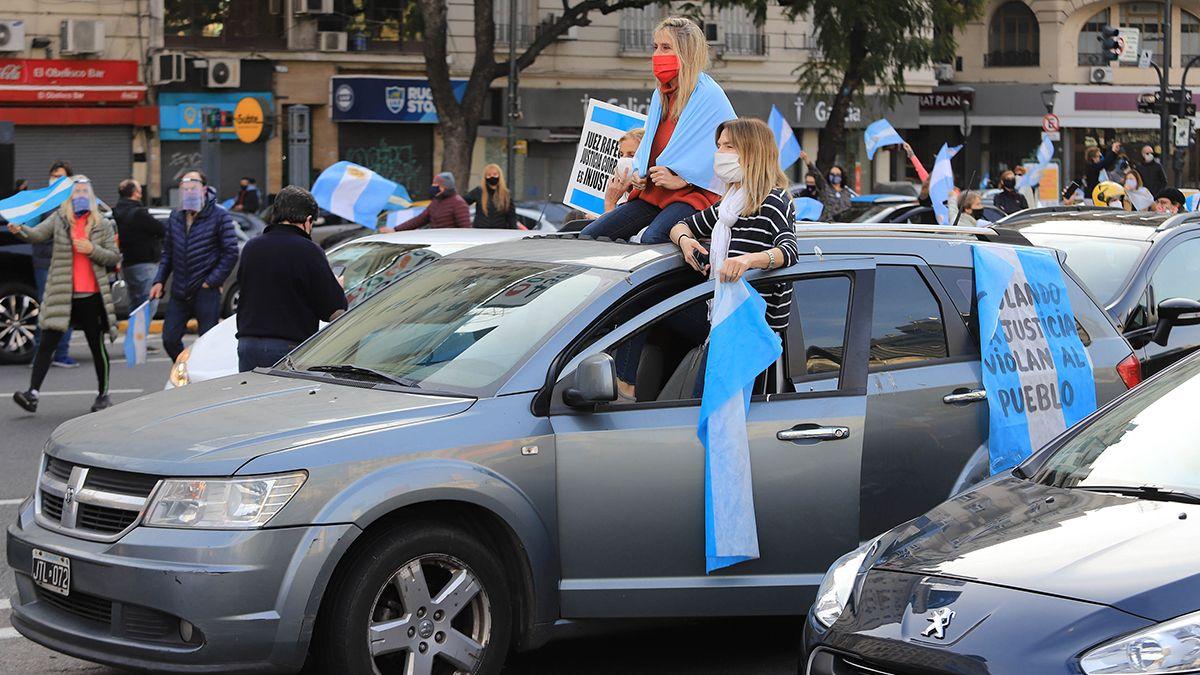 Protestas contra la reforma judicial en el Obelisco
