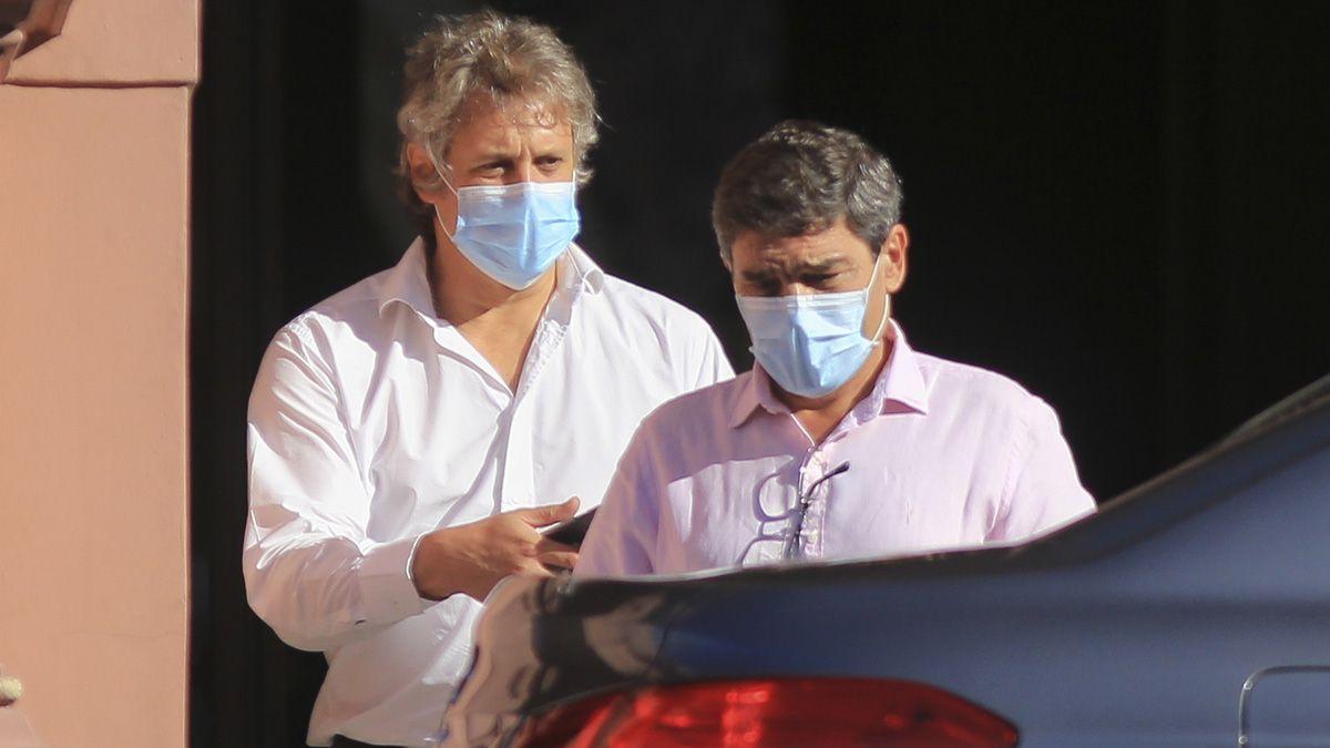 Fernán Quirós y Felipe Miguel tras reunirse con autoridades nacionales.