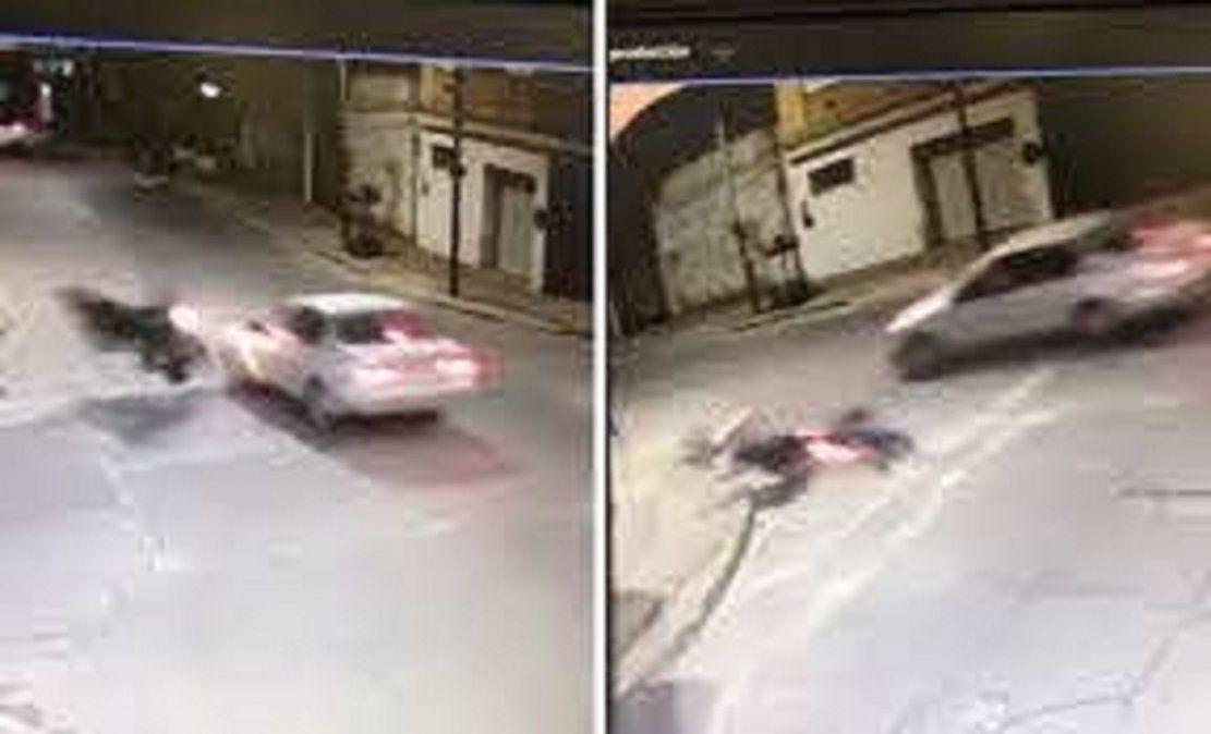 El auto en que circulaban los delincuentes que atropellaron a Bermúdez era robado.