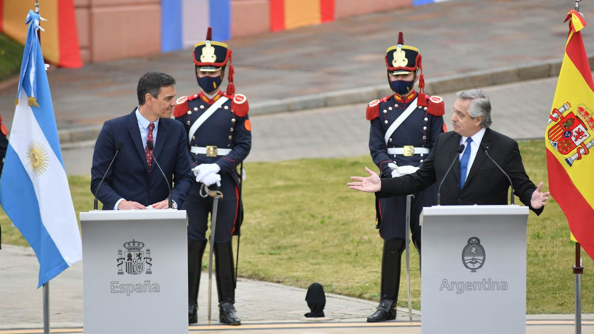 Sánchez respaldó a la Argentina en la negociación con el FMI.