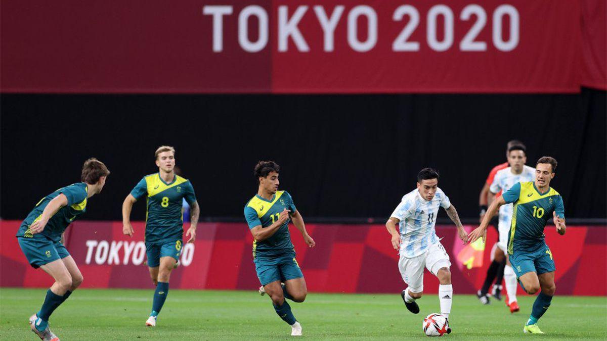Argentina perdió con Australia en el inicio de Tokio 2020