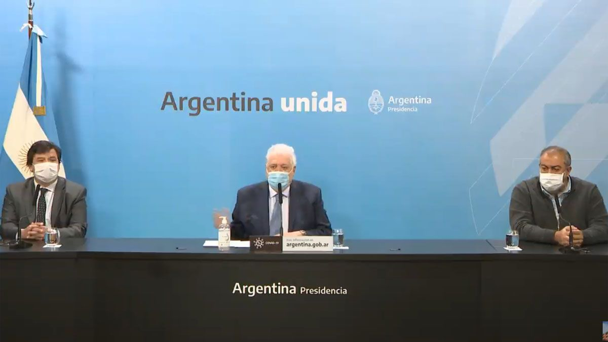 Ginés González García anunció la extensión del bono de 5 mil pesos para personal de salud