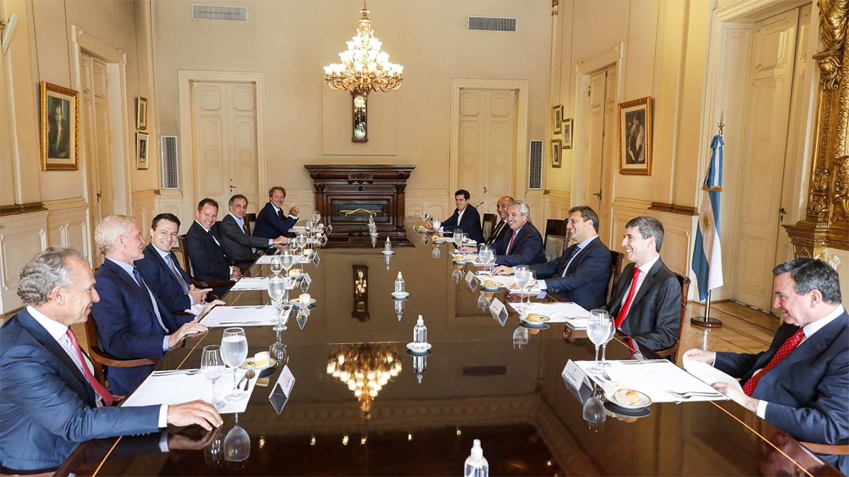 Fernández mantuvo ayer una reunión con empresarios