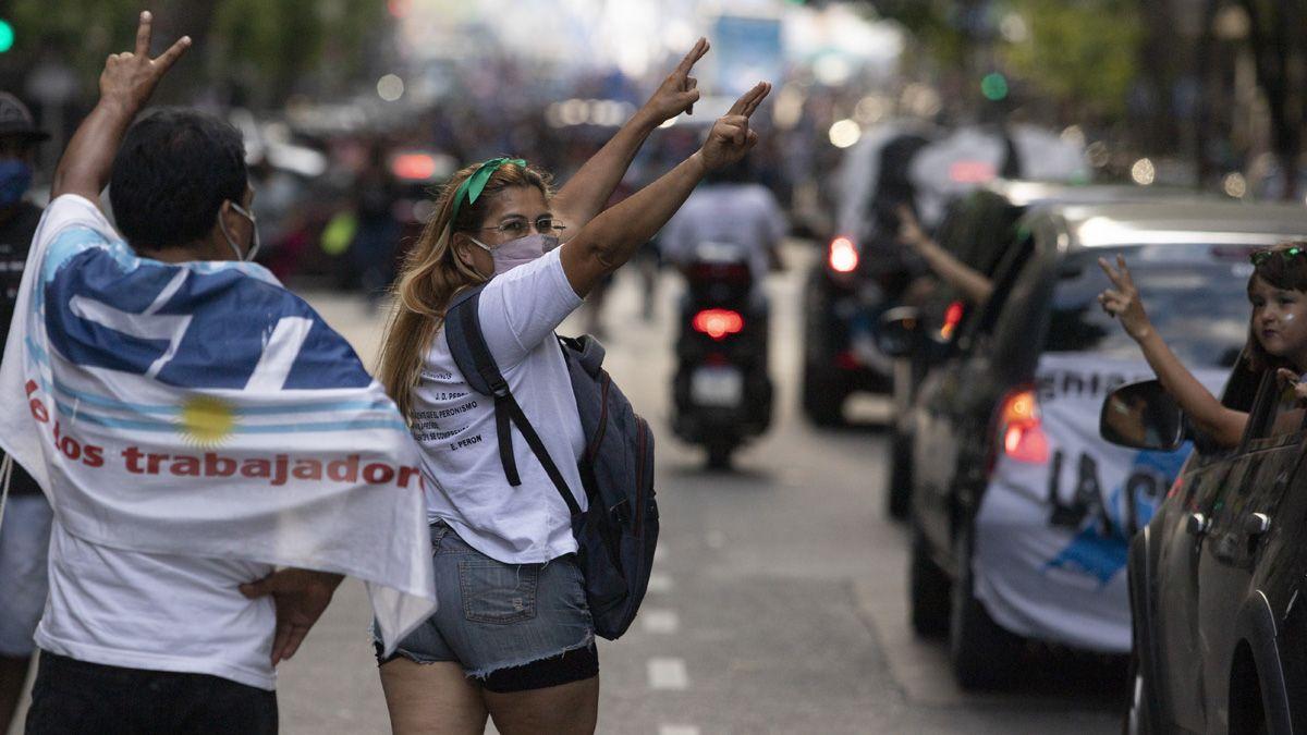 Los militantes recibieron un mensaje del presidente Fernández.