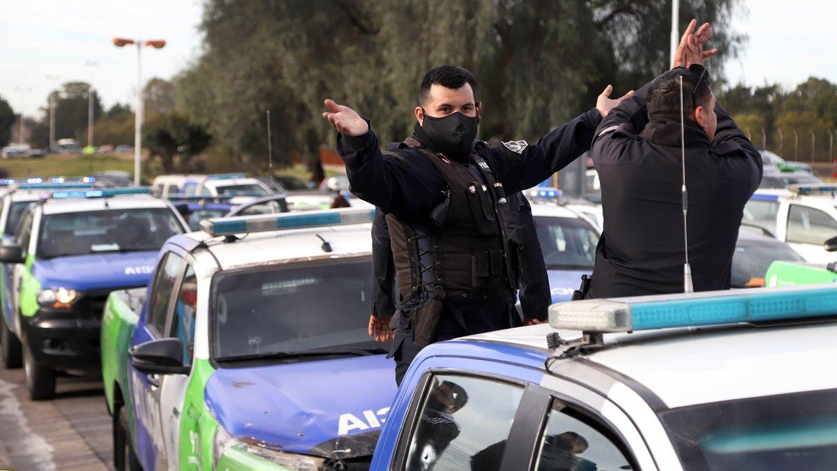 El reclamo de la Policía Bonaerense por mejores salarios.