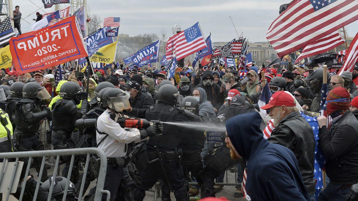 Las protestas generaron momentos de máxima tensión.