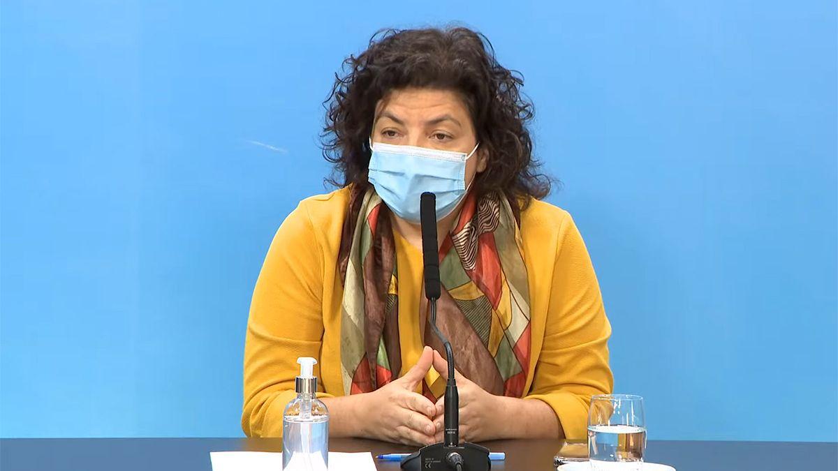 La ministra de Salud se refirió hoy a los contagios locales con la variante Delta del coronavirus.