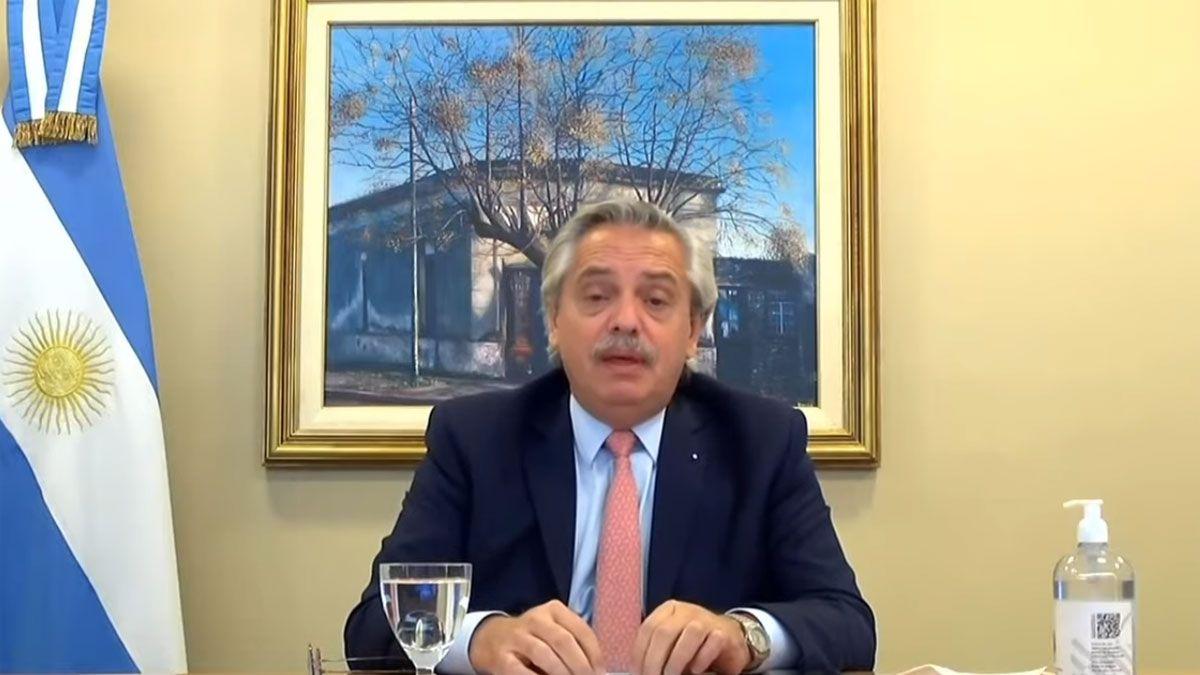 Alberto Fernández participó de manera virtual del Foro sobre Energía y Clima.