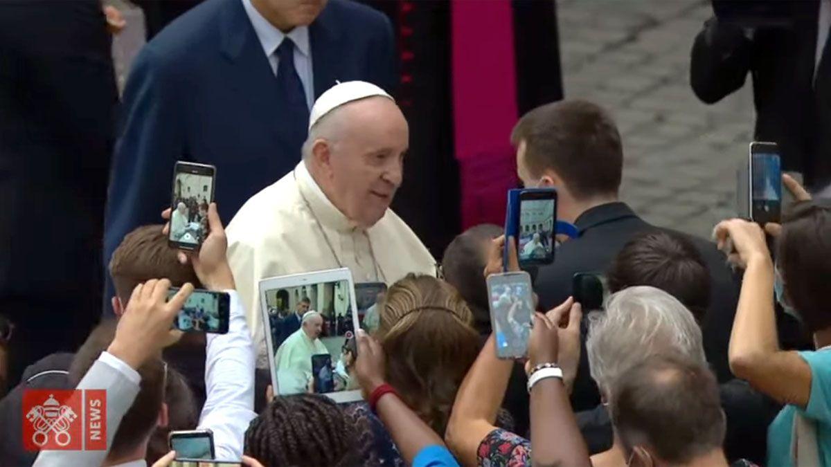 El papa Francisco encabezó la Audiencia General en el Vaticano.