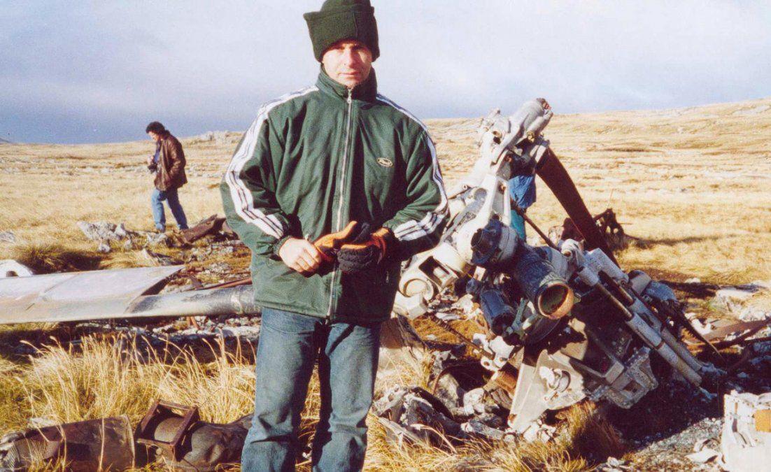 Edgardo Esteban combatió en las islas y volvió años después. Es escritor y ahora dirige el Museo Malvinas.