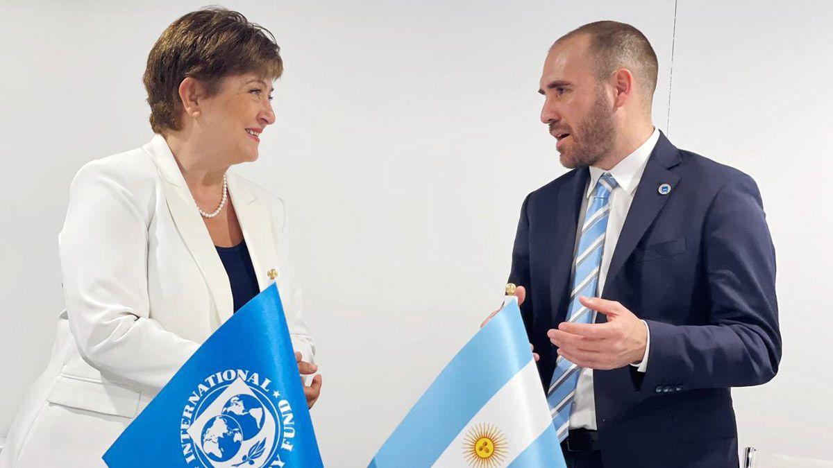 Kristalina Georgieva y Martín Guzmán avanzan en la negociación por la deuda.