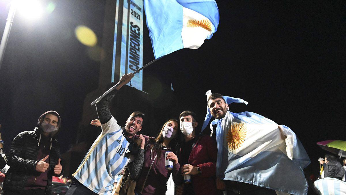 Una multitud festejó en Rosario.