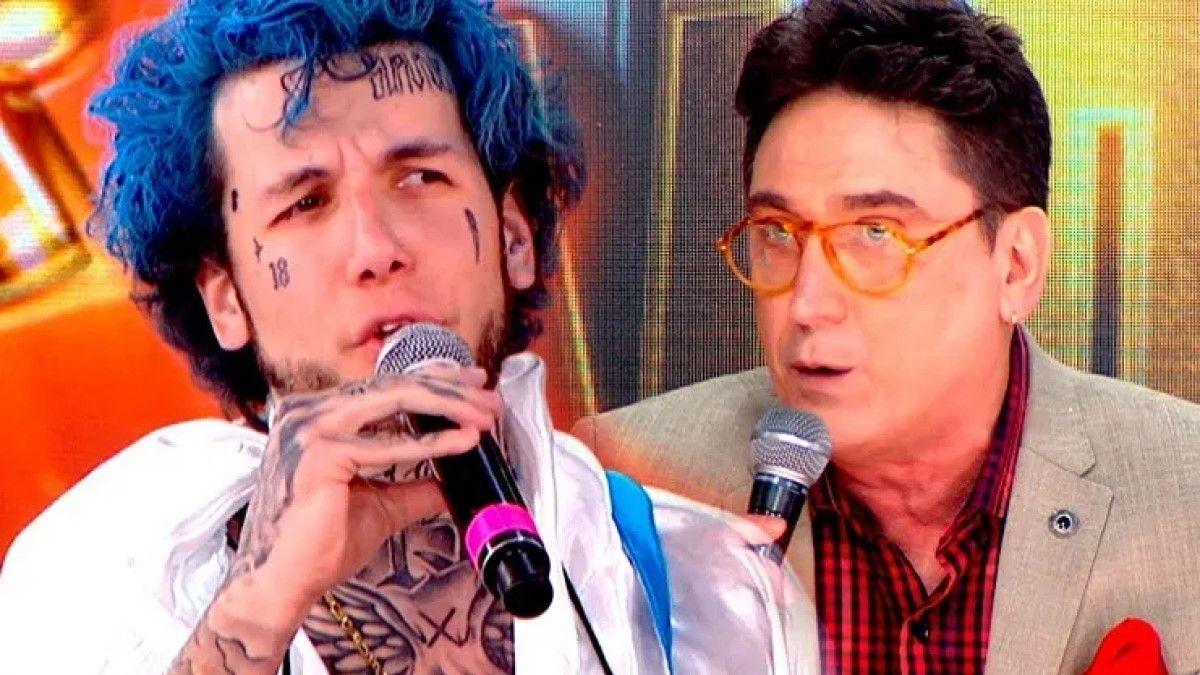 Fuerte cruce entre Oscar Mediavilla y Alex Caniggia en el Cantando 2020.