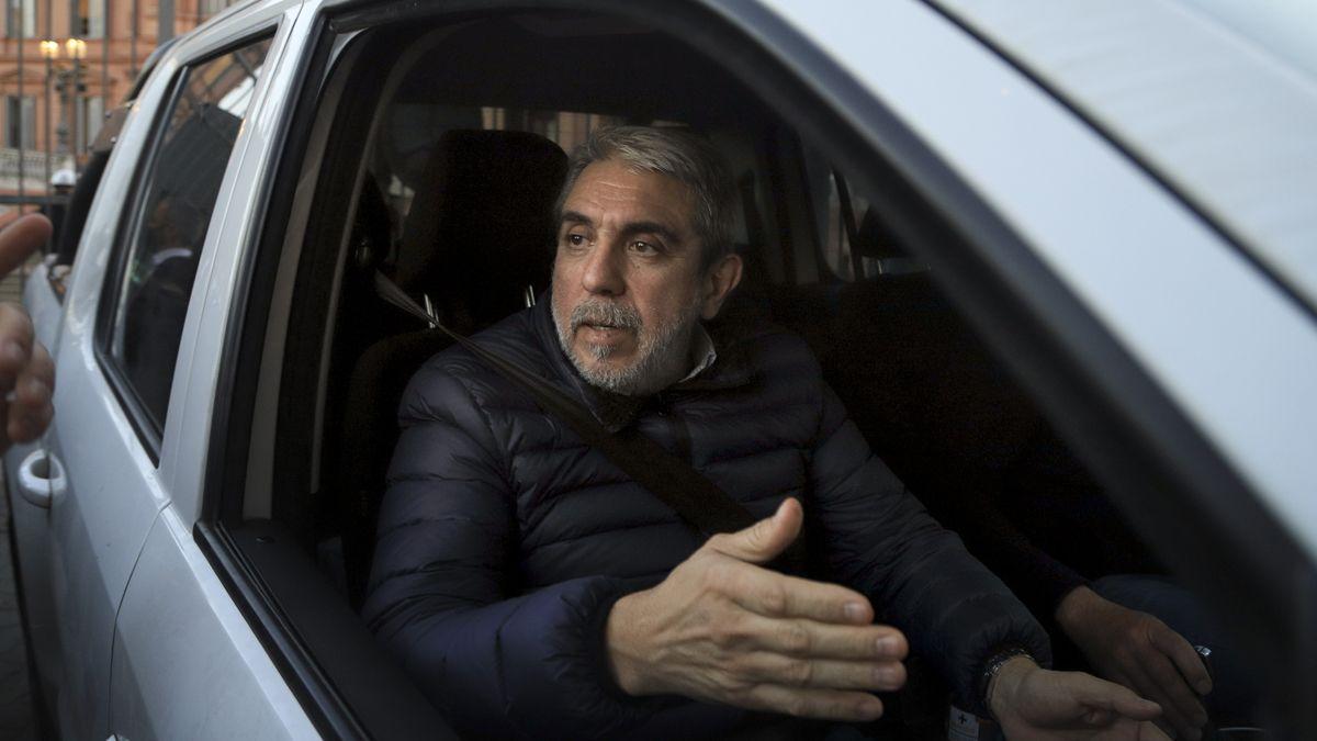 Aníbal Fernández visitó a Alberto en la Casa Rosada.