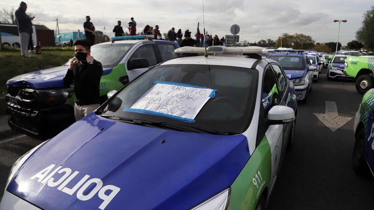 Las protestas se originaron en distintas ciudades de Buenos Aires.