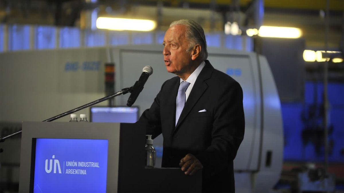 El presidente de la Unión Industrial Argentina