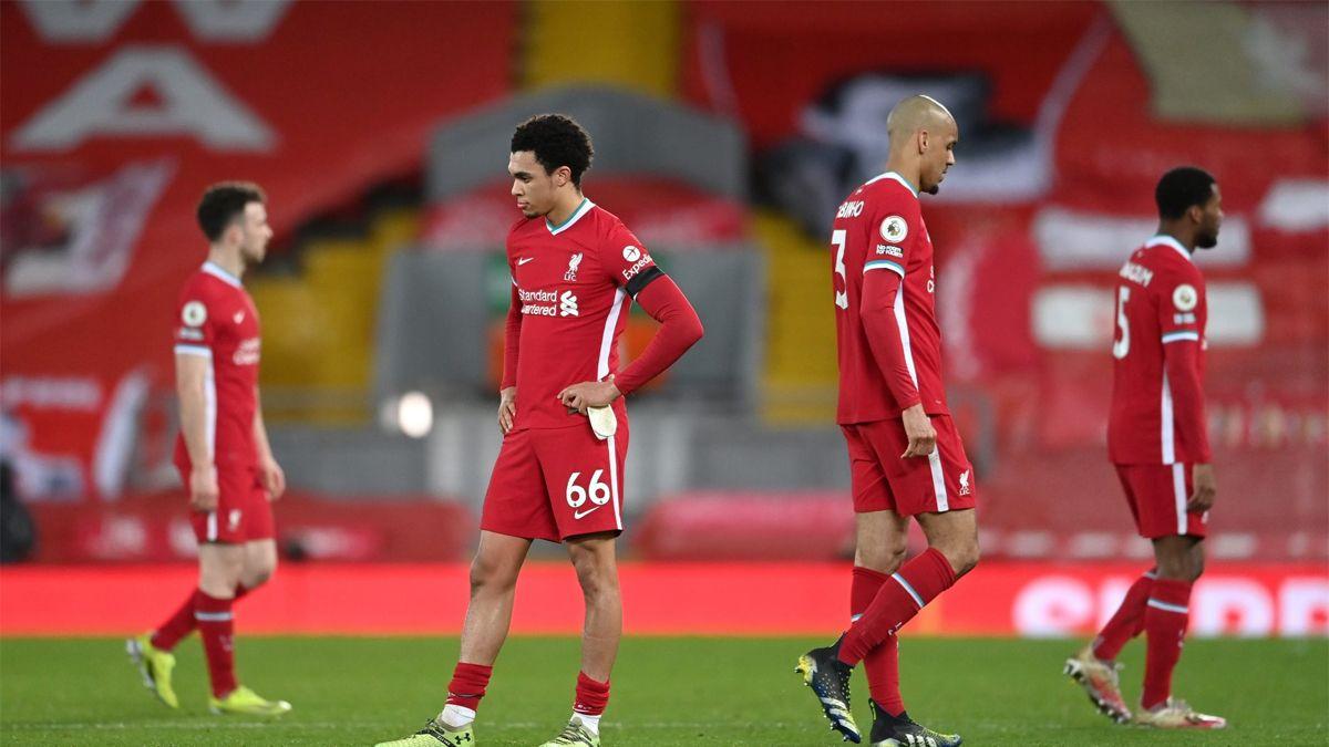 El Liverpool acumula una racha negativa histórica.