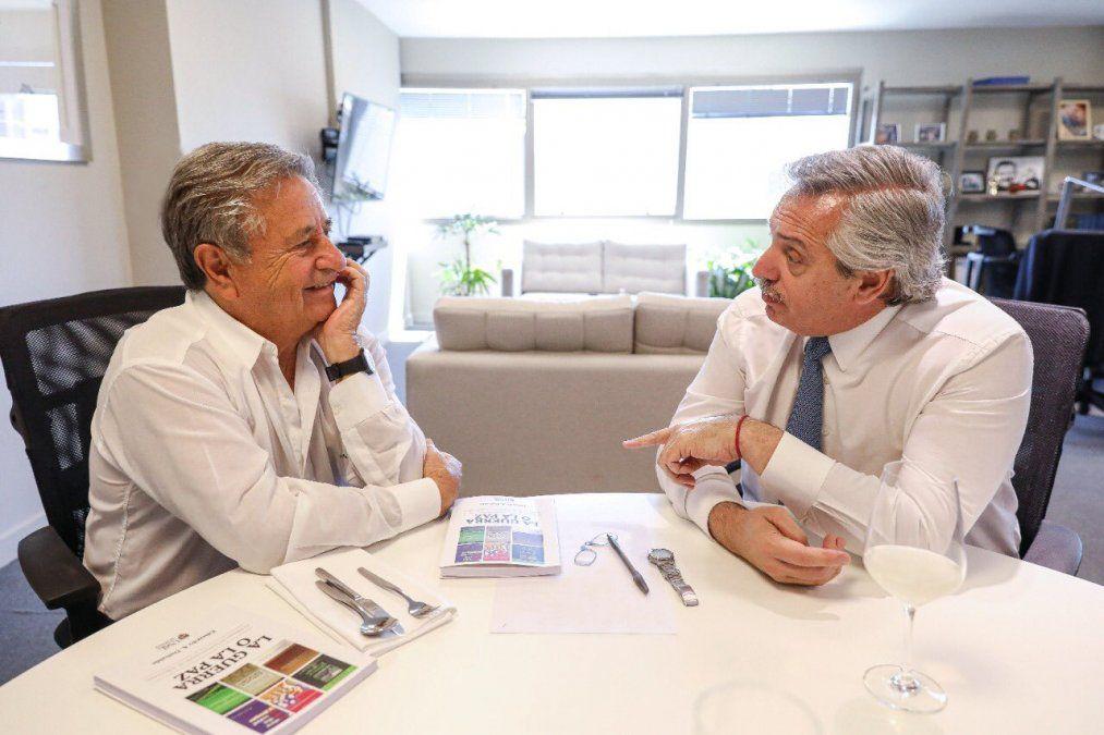 Alberto Fernández junto a Eduardo Duhalde. La foto es de 2019. Esta semana se volvieron a reunir.