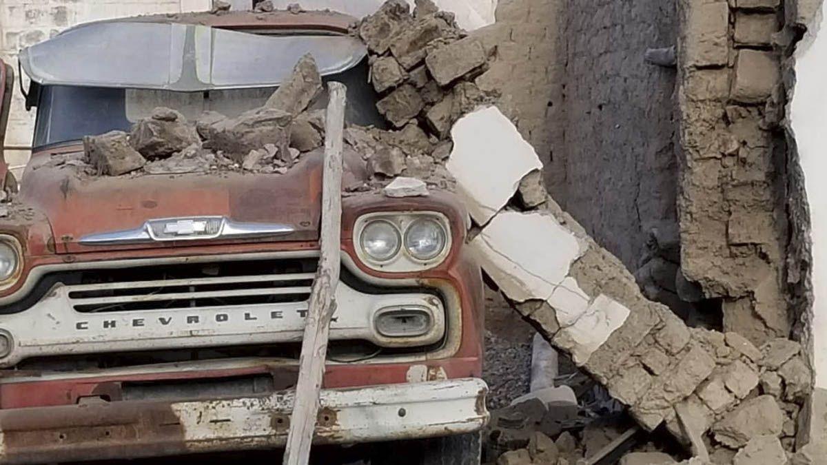 En la zona de Pocito hubo daños en viviendas.