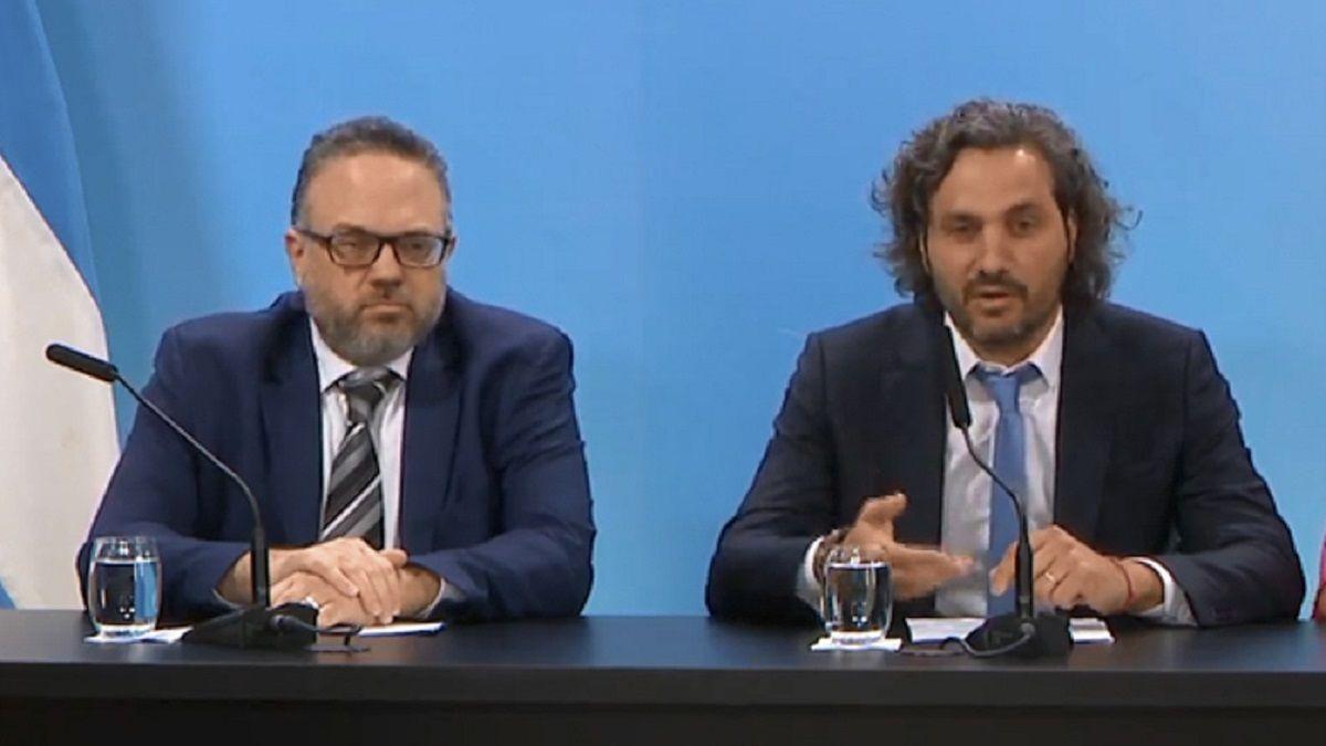 Matías Kulfas y Santiago Cafiero son los miembros del Gabinete que presentarán la nueva plataforma de compras virtual estatal.