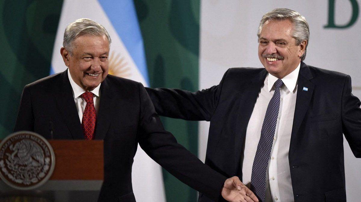 Fernández y López Obrador brindaron una conferencia de prensa conjunta.