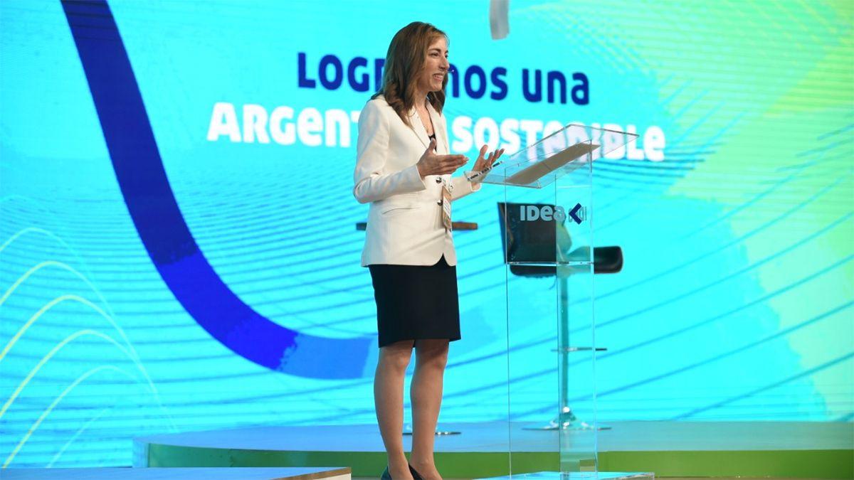La presidenta del 57 Coloquio de IDEA