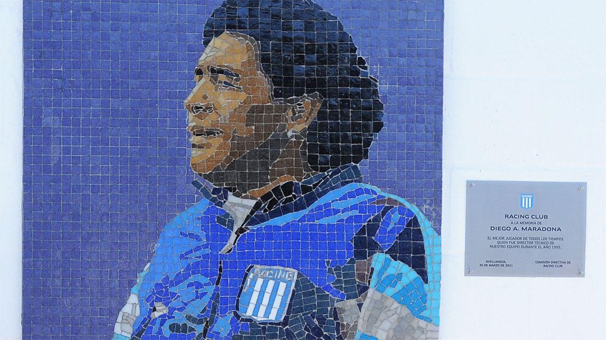 El mural quedó estampado en el estadio Juan Domingo Perón.