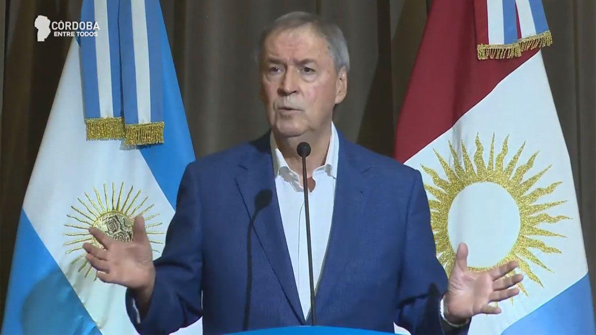 El gobernador Juan Schiaretti anunció la renegociación de la deuda.