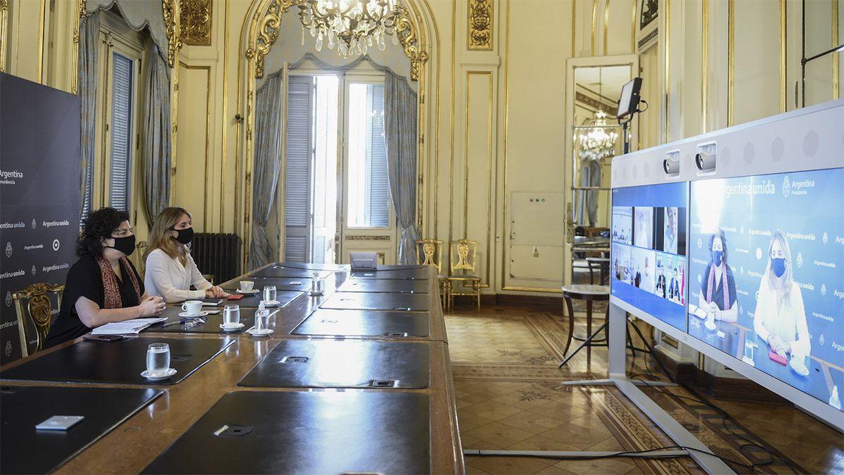 La ministra Vizzotti y Nicolini compartieron reuniones por las vacunas.