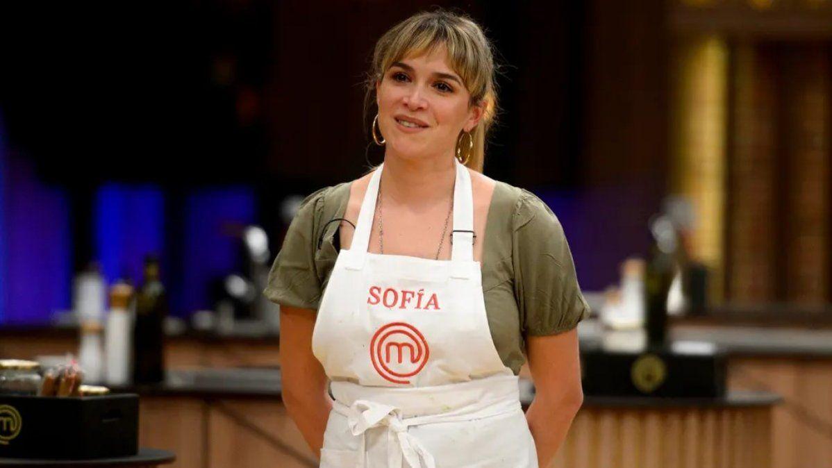 Sofía Pachano quedó afuera de Masterchef Celebrity.