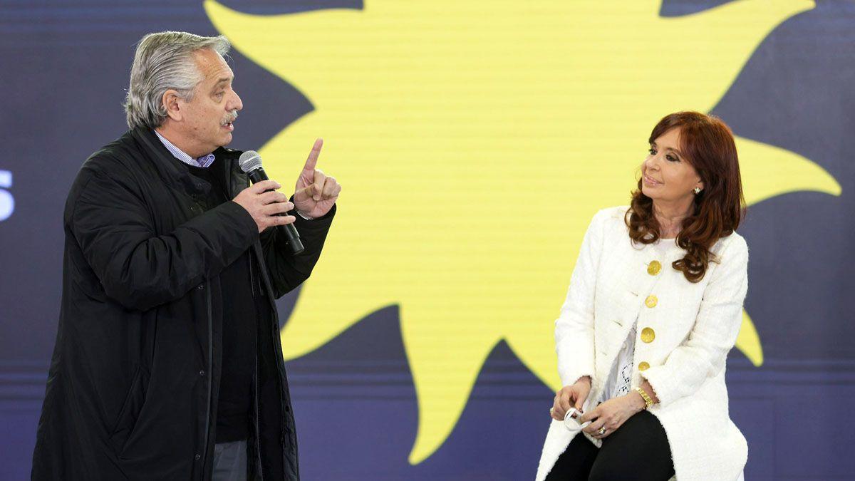 El presidente Alberto Fernández y la vicepresidenta Cristina Kirchner