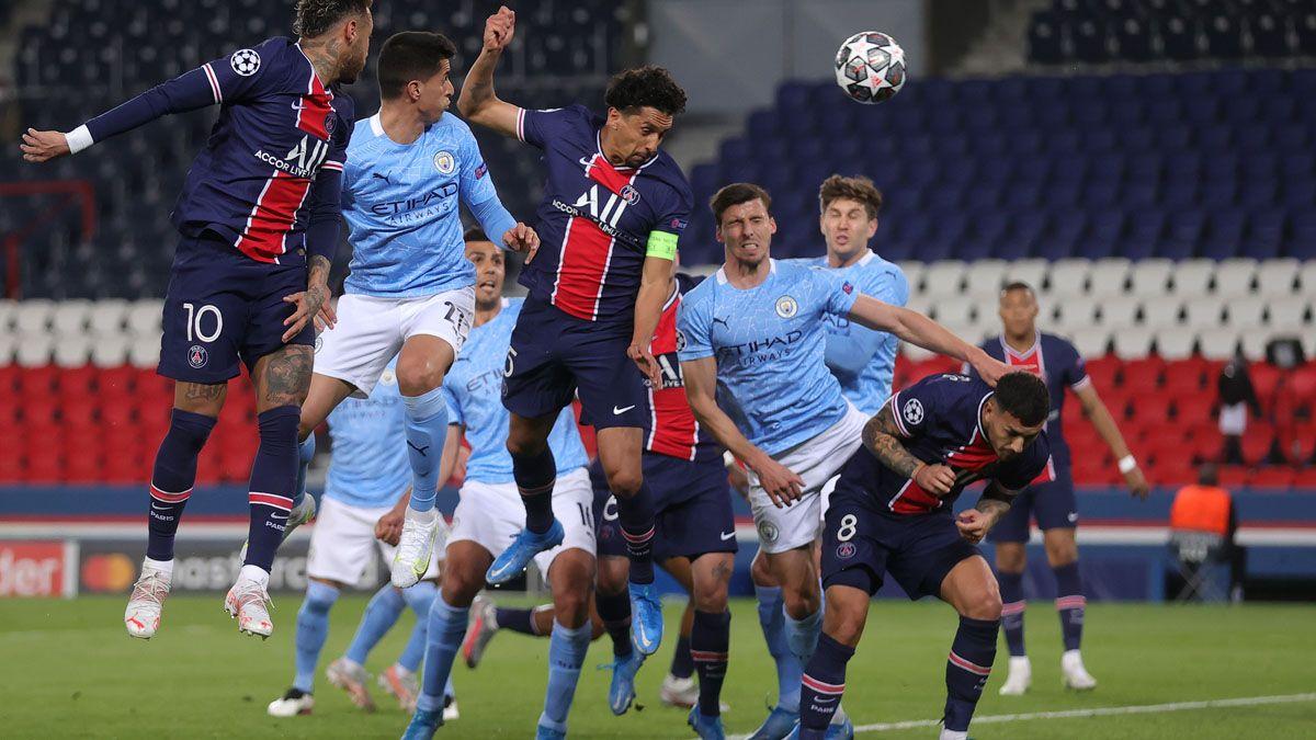 El PSG y el Manchester City disputan la revancha.