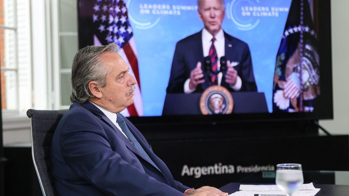 Alberto Fernández participó de la Cumbre de Líderes sobre el clima.