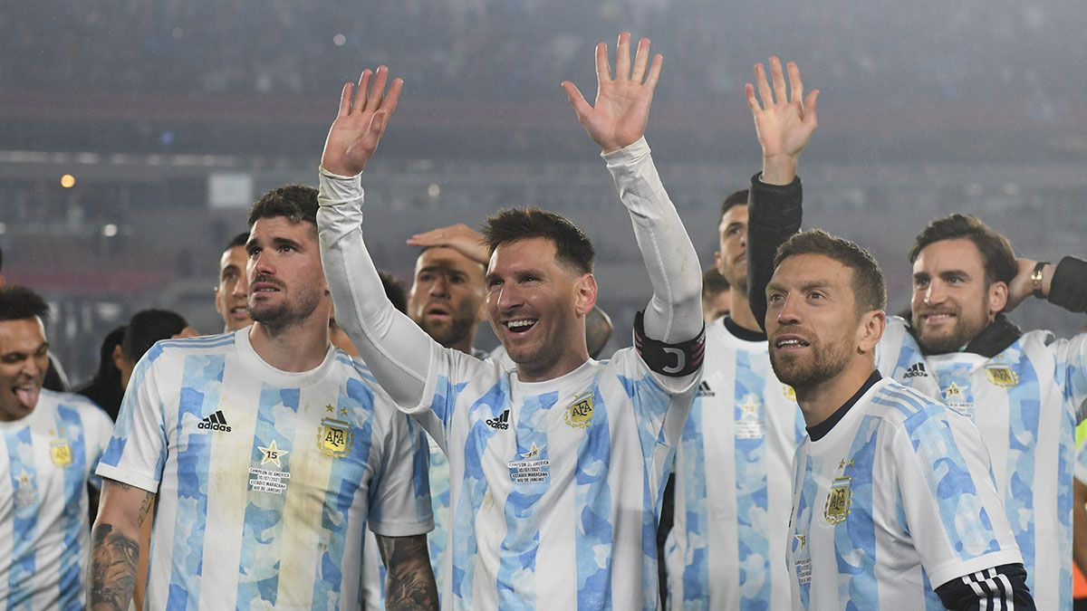 Argentina tuvo su festejo con el público tras ganar la Copa América.