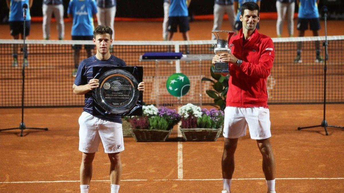 Final del Masters 1000 de Roma: Schwartzman no pudo contra Djokovic.