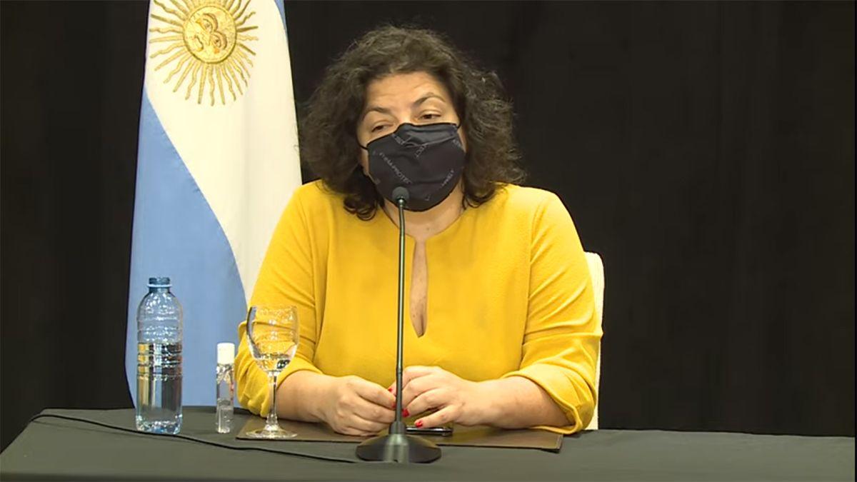 La ministra de Salud